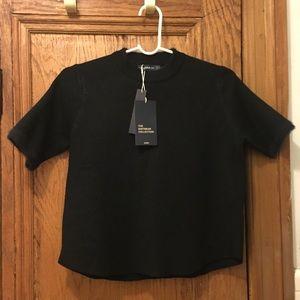 Zara Chic Black Knit Top ♣️